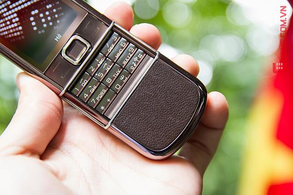 Phần da dưới của Nokia 8800 Sapphire Arte màu cafe