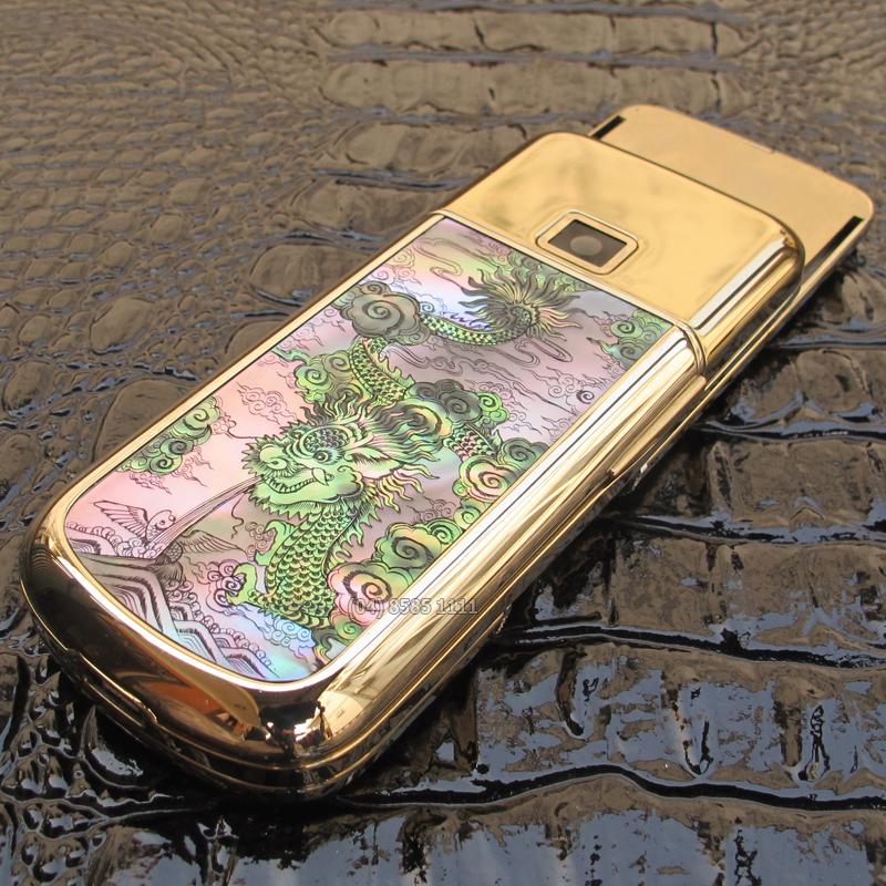 Nokia 8800 Gold Arte Diamon Dragon vốn là chiếc nokia 8800 Gold Arte được độ thêm hình rồng