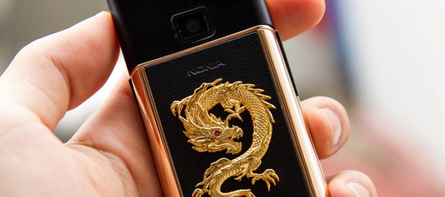 Nokia 8800 Rose Gold Dragon